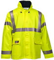Hi-Viz Yellow Quad-Hazard Arc Flash and FR Jacket #J44122