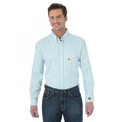 Wrangler® FR Flame Resistant LS Button Down Plaid Shirt #FR132TR