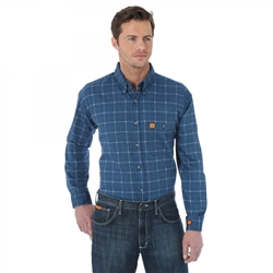 Wrangler® FR Flame Resistant LS Button Down Plaid Shirt #FR133RB