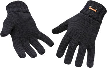 Knit Glove Insulatex Lined/Black #GL13