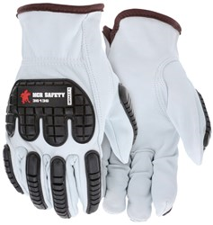 Grain goatskin leather TPR back of hand protection #36136