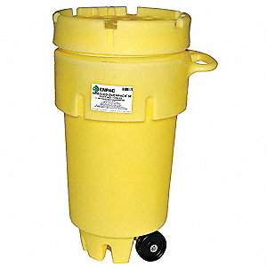 EnPac 1259-YE Wheeled Poly-Overpack Salvage Drum 50 Gallon