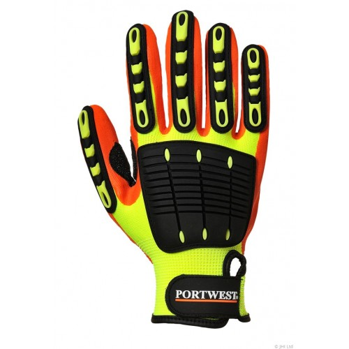 Anti Impact Grip Glove - Nitrile - Yellow/Orange #A721