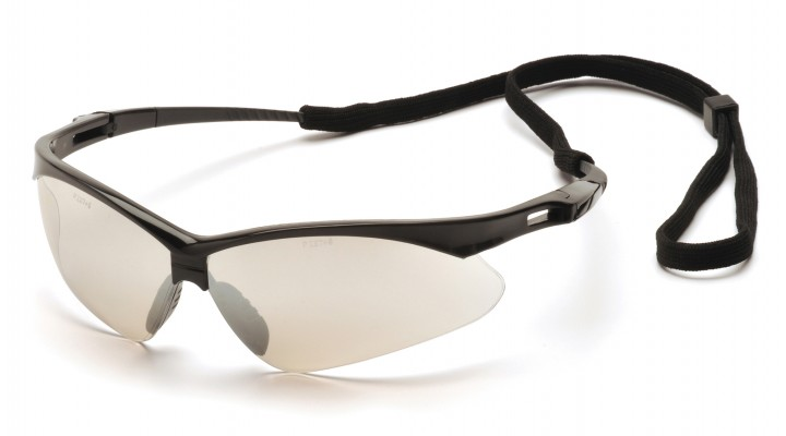 PMXTREME Safety Glasses, Black Frame, Mirror Lens  #SB6380SP