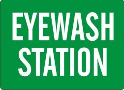 Eye Wash Station Sign 7x10 AL G-170821