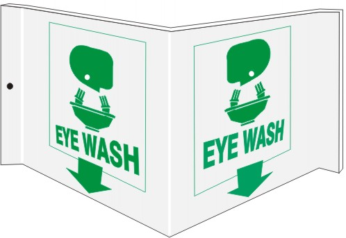 Projecting Wall Signs Eye Wash PWS-2