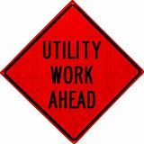48x48 Utility Work Superbrite Sign #07-800-4046-L