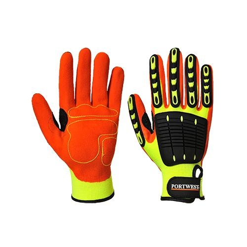 Anti-Impact Grip Glove Yellow/Orange #A721Y1R
