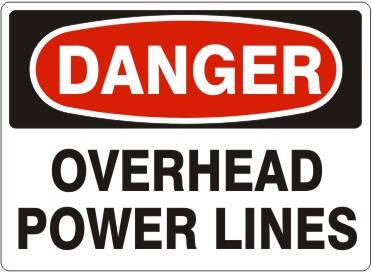 .OVERHEAD POWER LINES W/ H-STANDS 18X24 #1824-COR-OPL