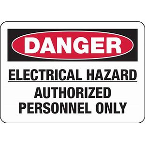 DANGER Electrical HazardAuth. Employees Only #1014-D-EHAP