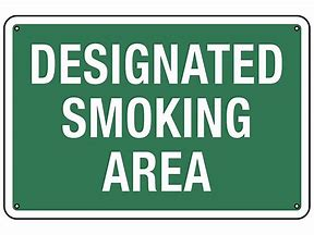 DESIGNATED SMOKING AREA 12x18 Aluminum #1218-AL-DSAR