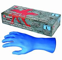 8 mil. Texture Nitrile Disposal Gloves/Blue #6018