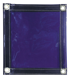 Blue Flame-Retardant Transparent Vinyl Welding Curtain #RAD64052107