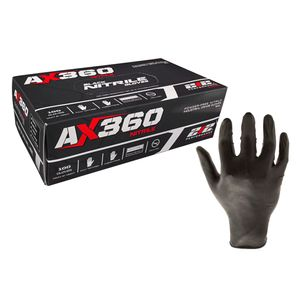 Black Nitrile Gloves #AX360