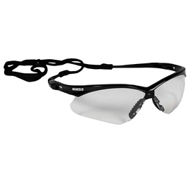 Nemesis* Black Safety Glasses With Clear Hard Coat Lens #K4525676