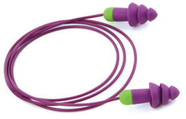 Moldex® Rockets® Flanged Thermoplastic Elastomer Corded Earplugs #MOL6404