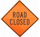 36x36 Road Closed