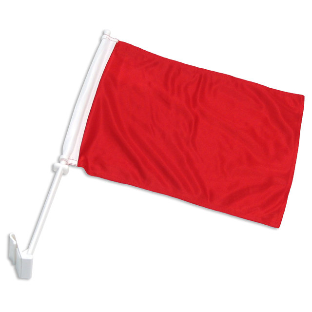 Solid Red Car Flag #CFRED