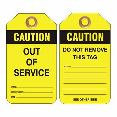 Caution Out of Service LockOut/TagOut