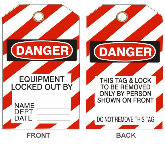 Danger Equipment Locked Out By Tag #VT-147