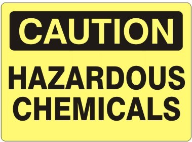Caution Hazardous Chemicals