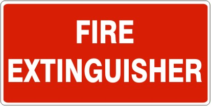 Fire Extinguisher Metal Sign