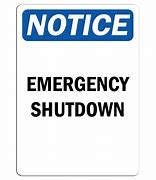 Emergency Shut Down 12x18 Vinyl Press-On #1218-PO-ESD