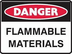 DANGER Flammable Materials No Smoking 12x16 Vinyl Press-On #1216-D-FMNS