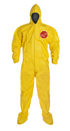 #QC122BYL Tychem Coveralls with Hood and Boots