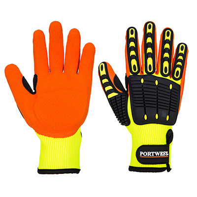 Anti Impact Grip Glove - Nitrile Yellow/Orange #A721
