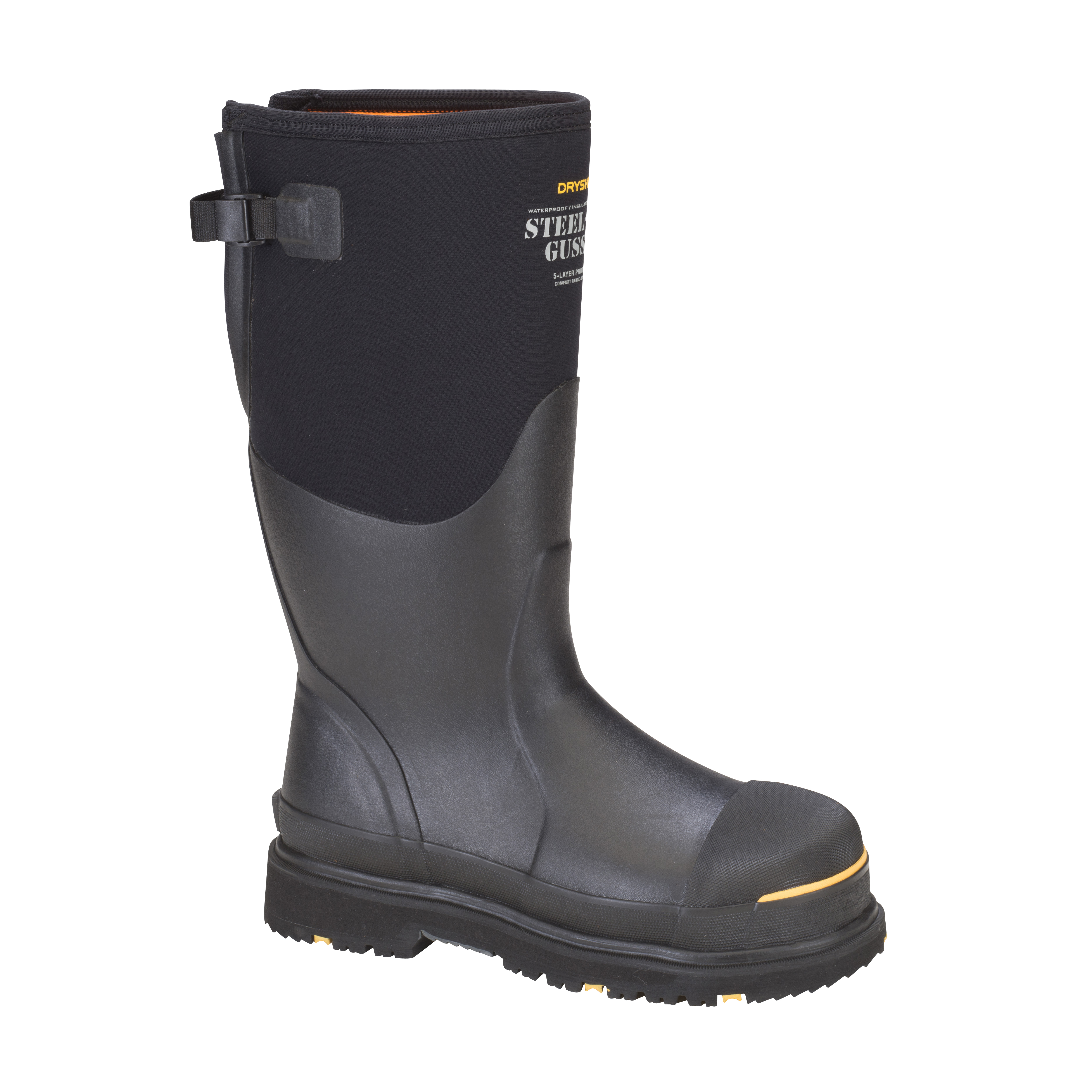 Steel-Toe Adjustable Gusset Work Boot #STG-UH-BK