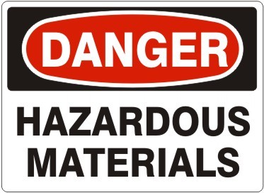 Danger Hazardous Material #D-3715
