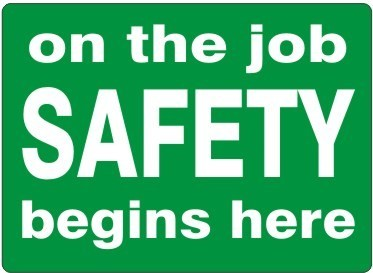 ON THE JOB SAFETY BEGINS HERE PLASTIC 7x10 #G-570523