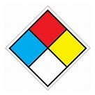 NFPA Blue-1 Red-4 Yellow-0 White Blank 24x24 Plastic #2424-PL-140B